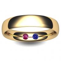 Flat Court Very Heavy -  7mm (FCH7Y-9Y) 9ct Yellow Gold Wedding Ring