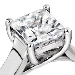 Palladium Princess Diamond Engagement Rings
