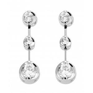 18carat White Gold Diamond Drop Earrings