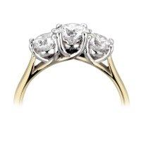 18ct Gold  0.50-1.0ct Diamond Trilogy Ring
