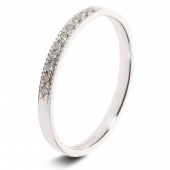 9ct White 0.10ct Brilliant HSI Diamond Ten Stone Eternity Ring - 2.0mm Band