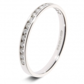 9ct White 0.25ct Brilliant HSI Diamond Eternity Ring - 2.3mm Band - Fast Delivery