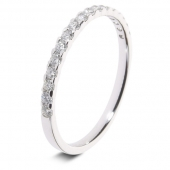 9ct White 0.25ct Brilliant HSI Diamond Eternity Ring - 2.3mm Band - Claw Set