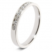 9ct White 0.25ct Brilliant HSI Diamond Eternity Ring - 2.8mm Band - Fast Delivery