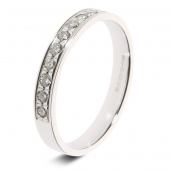 9ct White Gold 0.25ct Brilliant HSI Diamond Eternity Ring - 2.8mm Band - Grain Set
