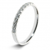 9ct White 0.25ct Brilliant HSI Diamond Eternity Ring - 2.8mm Band - Claw Set