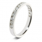 9ct White 0.50ct Brilliant HSI Diamond Eternity Ring - 2.9mm Band - Fast Delivery