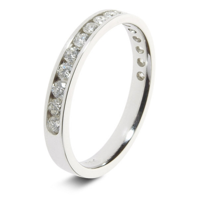 9ct White 0.50ct Brilliant HSI Diamond Eternity Ring - 2.9mm Band