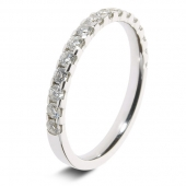 9ct White 0.50ct Brilliant HSI Diamond Eternity Ring - 2.9mm Band - Claw Set