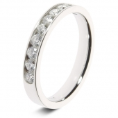 9ct White 0.50ct Brilliant HSI Diamond Eternity Ring - 3.3mm Band - Fast Delivery