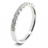 9ct White 0.50ct Brilliant HSI Diamond Eternity Ring - 3.3mm Band - Claw Set
