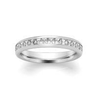 Eternity Ring (SPCH) - Channel Set Princess - All Metals