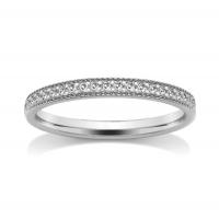 Diamond Wedding Ring - All Metals (TBCSRGM5) Grain Set