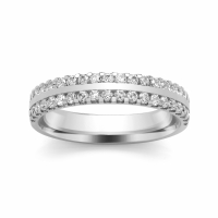Diamond Wedding Ring - All Metals (TBCSSCLW) Claw Set