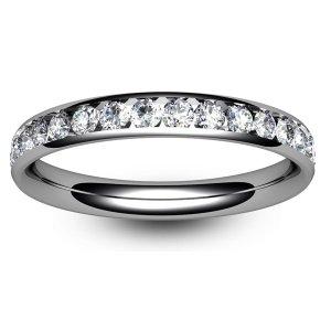 Channel Set Diamond Wedding Rings