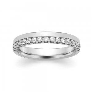 Diamond Wedding Ring - All Metals (TBCSRBC5BW) Claw Set