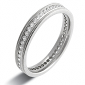 9ct White Gold 0.50ct Brilliant HSI Diamond Full Eternity Style Ladies Wedding Ring