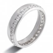 9ct White Gold 0.75ct Brilliant HSI Diamond Full Eternity - Wedding Ring - Popular Design