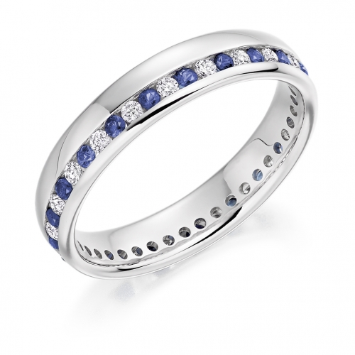 Blue Sapphire Ring - (BSAFET944) - All Metals