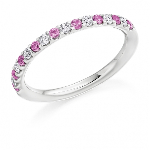Pink Sapphire Ring - (PSAHET1023) - All Metals