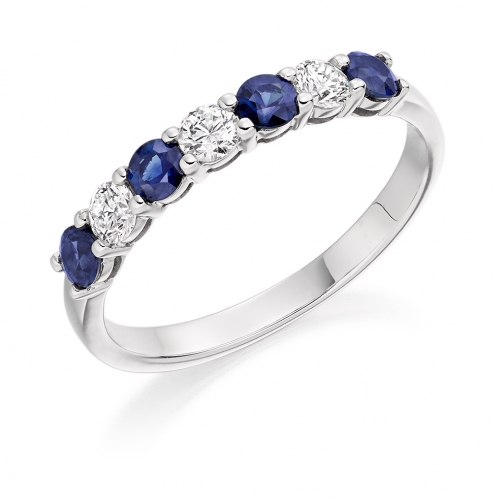 Blue Sapphire Ring - (BSAHET1493) - All Metals