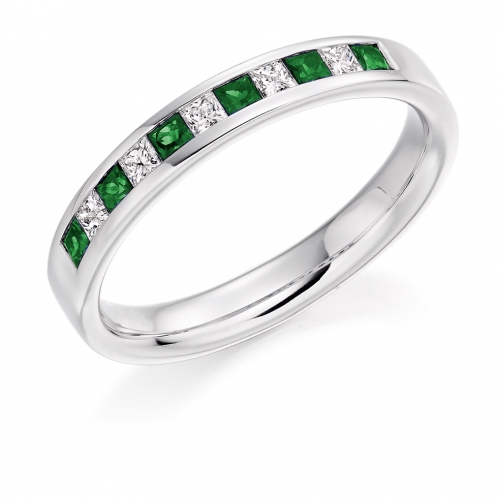 Emerald Ring - (EMDHET929) - All Metals