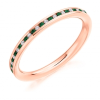 Emerald Ring - (EMDFET964) - All Metals