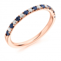 Blue Sapphire Ring - (BSAHET1023) - All Metals