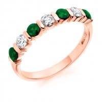 Emerald Ring - (EMDHET1284) - All Metals