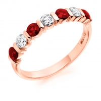 Ruby Ring - (RUBHET1284) - All Metals