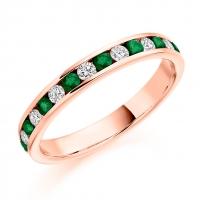 Emerald Ring - (EMDHET1310) - All Metals
