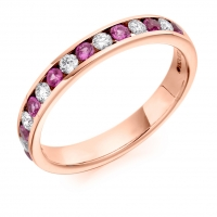 Pink Sapphire Ring - (PSAHET1310) - All Metals