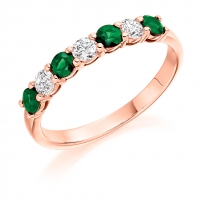 Emerald Ring - (EMDHET1493) - All Metals