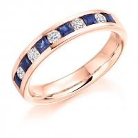 Blue Sapphire Ring - (BSAHET1729) - All Metals