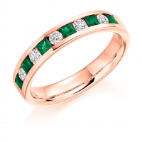 Emerald Ring - (EMDHET1729) - All Metals