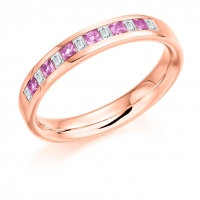 Pink Sapphire Ring - (PSAHET917) - All Metals