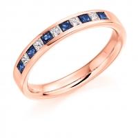 Blue Sapphire Ring - (BSAHET929) - All Metals