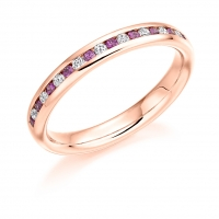 Pink Sapphire Ring - (PSAHET936) - All Metals