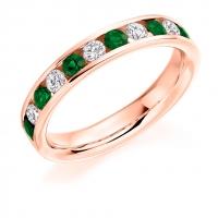 Emerald Ring - (EMDHET939) - All Metals