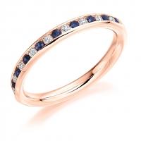 Blue Sapphire Ring - (BSAHET997) - All Metals