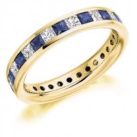 Blue Sapphire Ring - (BSAFET1088) - All Metals