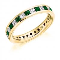 Emerald Ring - (EMDFET1088) - All Metals