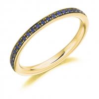 Blue Sapphire Ring - (BSAFET2891) - All Metals