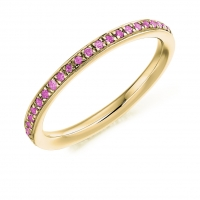 Pink Sapphire Ring - (PSAFET2891) - All Metals