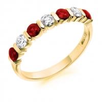 Ruby Ring - (RUBHET1284) - All Metals