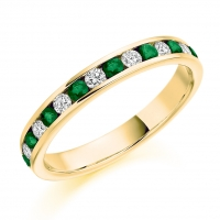 Emerald Ring - (EMDHET1310) - All Metals