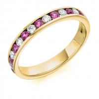 Pink Sapphire Ring - (PSAHET1310) - All Metals