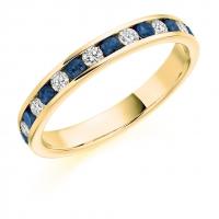 Blue Sapphire Ring - (BSAHET1310) - All Metals