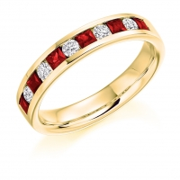 Ruby Ring - (RUBHET1729) - All Metals