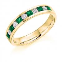 Emerald Ring - (EMDHET1729) - All Metals